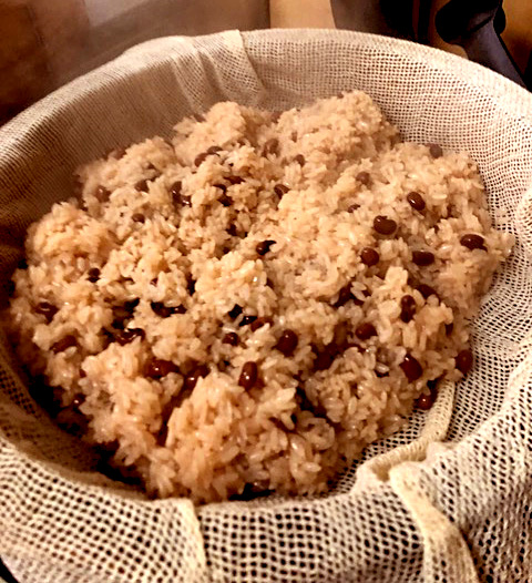 2019年1月料理教室 お赤飯