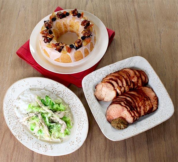 ローストポーク、クリスマス リースケーキ
